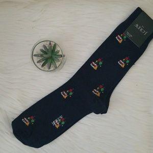 Jcrew Birthday Navy Dress Socks